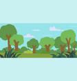 cartoon forest landscape vector image vector image