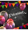 chalk word carnival on the blackboard texture vector image vector image