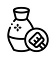 clay vase cleansing icon outline vector image vector image