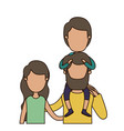 colorful caricature faceless front view half body vector image vector image