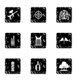 Competition paintball icons set grunge style vector image vector image