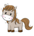 cute cartoon horse on a white background vector image vector image
