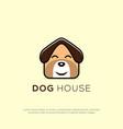 cute dog house logo design cute dog head cartoon vector image vector image