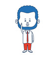 cute man cartoon standing formal clothes character vector image vector image