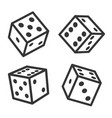 dice cubes set on white background vector image vector image