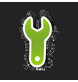 Drawing business formulas wrench vector image vector image