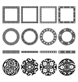 Ethnic borders set Round and square frames vector image vector image