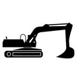 excavator black color icon vector image vector image