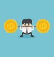 fall of bitcoin vector image