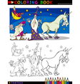 Fantasy Characters for coloring vector image vector image