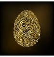 Golden easter egg vector image vector image