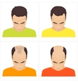 Hair loss stages in men vector image vector image