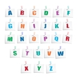 Hands Draw Alphabet vector image