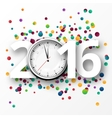 happy new year 2016 celebration with confetti vector image vector image