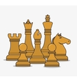 human resources chess pieces design isolated vector image
