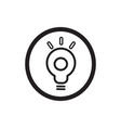 idea icon concept light bulb symbol vector image vector image