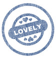 lovely stamp seal rounded fabric textured icon vector image vector image