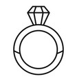 luxury diamond ring icon outline style vector image vector image
