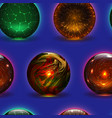 magic ball magical crystal glass sphere vector image