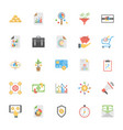market and economics flat icons set vector image vector image