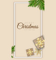 merry christmas minimal design with xmas vector image vector image