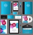 Modern Corporate Identity Template Design with vector image vector image