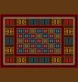 motley vintage carpet ethnic geometric ornament vector image vector image