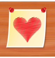 note with valentine vector image vector image