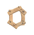 number 0 wood board font zero symbol plank and vector image vector image