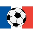 Official flag of France and soccer ball vector image