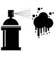 paint splash icon vector image