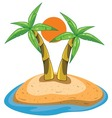 palms on island vector image vector image