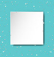 poster with star and paper vector image vector image