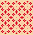 red and tan geometric floral seamless pattern vector image vector image