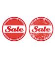 Sale retro grunge badges vector image vector image