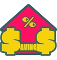 Savings grow up sticker vector image vector image