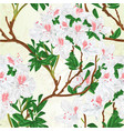 seamless texture white rhododendrons and rowan vector image vector image