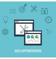 search engine optimitation success business vector image
