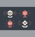 set emblem label and design elements vector image