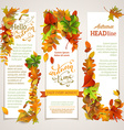 set of vertical autumn banners vector image vector image