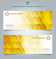 set template banner web geometric hexagon vector image