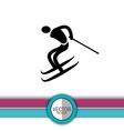 ski sport design vector image vector image