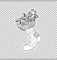 socking gift ticker ornate vector image vector image