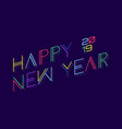 techno happy new year 2019 vector image vector image