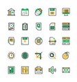 User Interface and Web Colored Icons 1 vector image vector image