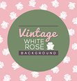Vintage White Roses Background vector image