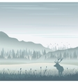 Wild moose in mountains vector image