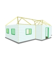 Building under construction technical vector image