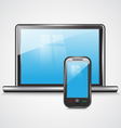 icon notebook and mobile phone vector image