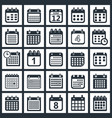 calendar icons design vector image